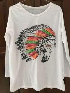 Long Sleeved Indian Hat Top