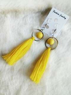 Ready !!! Anting Tassel Bola Kuning