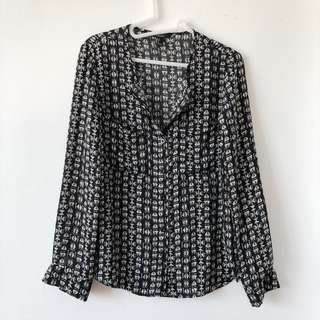 Forever 21 long-sleeved shirt with pattern