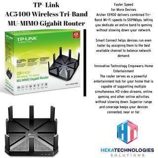 🚚 TP- Link AC5400 Wireless Tri-Band MU-MIMO Gigabit Router