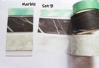 Marble washi Samples set B