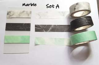 Marble washi Samples set A