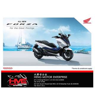 Brand New Honda Forza 300 motorcycle for sale!