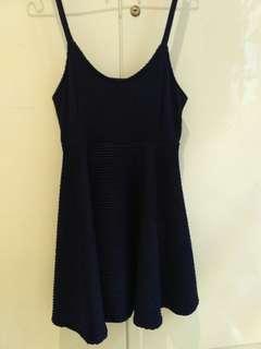 Dress navy flowy