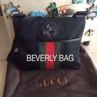 jual tas Gucci Slingbag Logo GG MIRROR QUALITY - black