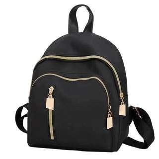 Korean Mini Black Backpack