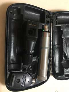 Welch allyn retinoscope and ophthalmoscope