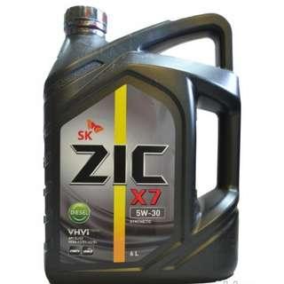 SK-ZIC X7 5W30 DIESEL 6 Liters