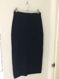 Veronica Maine Long Black Pencil Skirt