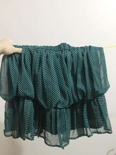 Green Polka Dotted Skirt
