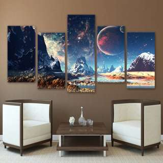 Exoplanet Astronomy Wall Framed Canvas