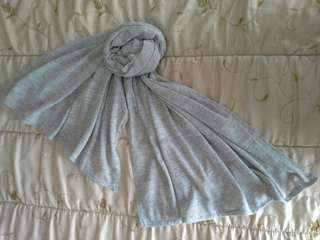 Light silver scarf