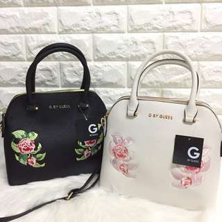 (READY POS)ORI GUESS SATCHEL BAG EMBROIDERY