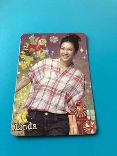 (包郵) 鍾嘉欣 Yes卡 閃卡 / Linda Yes Card