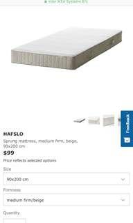 Ikea single bed mattress $45