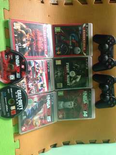 Ps3 controller,with 8 Games,Headset