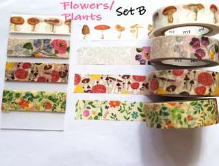 Flower/plants washi samples Set B