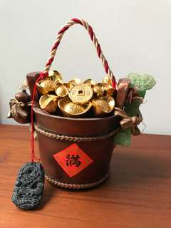 Lightly displayed: abundance pot of gold and ingots fengshui item by Lilian too
