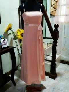 simple Gown Peach
