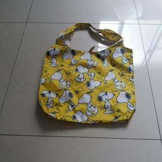 🚚 🚫(全新)史努比黃色購物袋