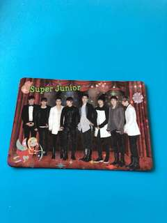 (包郵) Super Junior Yes卡 閃卡 / Yes Card