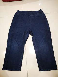 Uniqlo pants size 90cm (dark blue)