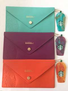 Starbucks pouch with card