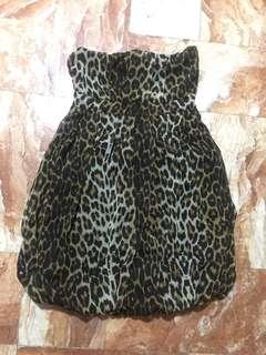 Animal Print Tube dress.