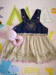 Little Miss Denim Dress (12M)