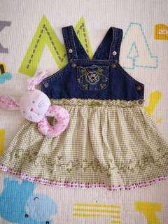 Little Miss Denim Dress (12M)