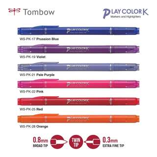 TOMBOW WS-PK Marking Pen PLAY COLOR K Double Point LIST 2/6