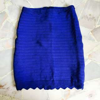 Judy Scallop Detail Bandage Skirt