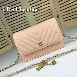 Chanel Sling Bag chain bag crossbody bag genuine leather