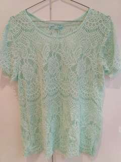 Lace maurice blouse