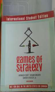 Games of Strategy /SMU GAME THEORY