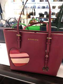 Michael Kors Red Heart Tote Bag
