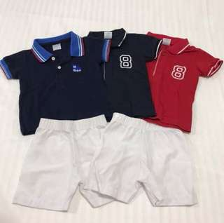 Crib Couture Polo & Shorts Set (6 Mos)