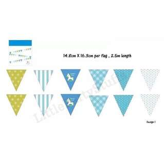 Party Flag Bunting (Blue)