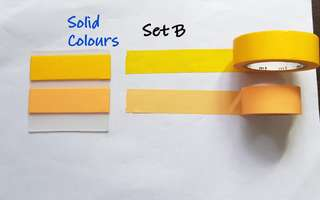 Solid Colours Washi samples Set B