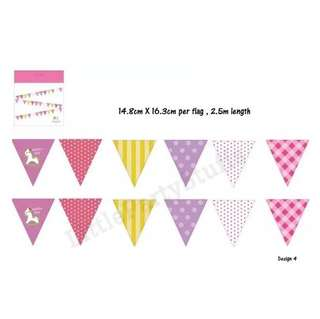 Party Flag Bunting (Purple)