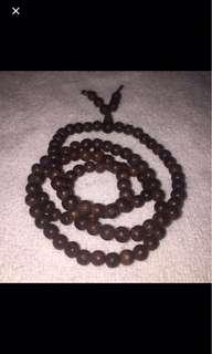 [FS138) 108 beads 5mm vietnamese high grade agarwood necklace