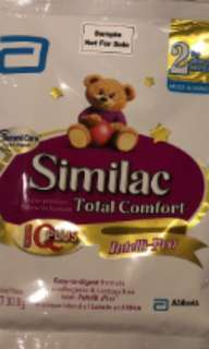 Enfagrow stage3, Similac Total Comfort stage2 and Isomil stage2 travel n trial packets