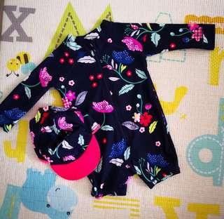 Cotton On Baby Harris Rashguard + Swimhat