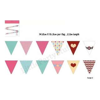 Party Flag Bunting (Heart)