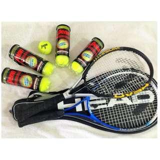 Head Tennis Racquet Ti.S1 Pro for 2 plus FREE 16pcs Penn Tennis ball