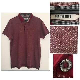 Preloved #BENSHERMAN (AUTHENTIC) - Maroon Polo Shirt