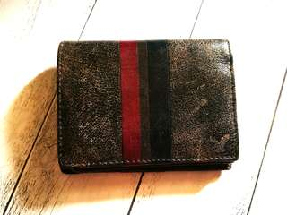 Authentic American Eagle Outfitters Rugged Leather Trifold Wallet.