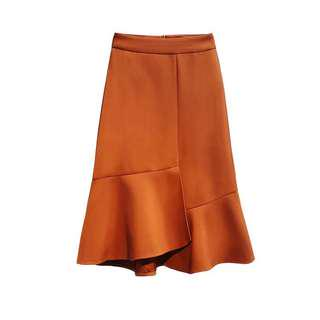 Flare Skirt in Orange