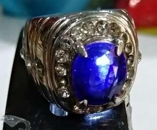 Original blue safir cutting