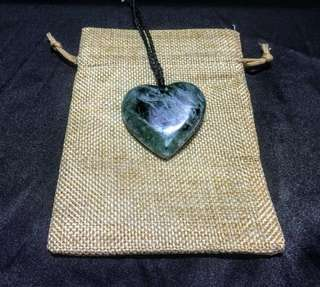 Jade Pendant - New Zealand Maori Greenstone (Jade) Hand Carved Heart shapped pendant